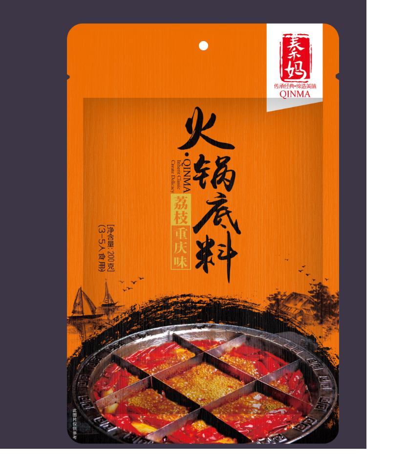 秦妈荔枝重庆味火锅底料200g